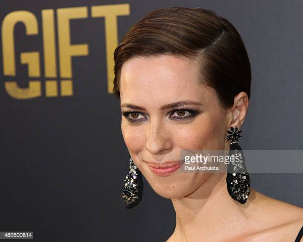 Actress Rebecca Hall attends the premiere of 'The Gift' at Regal Cinemas LA Live on July 30 2015 in Los Angeles California