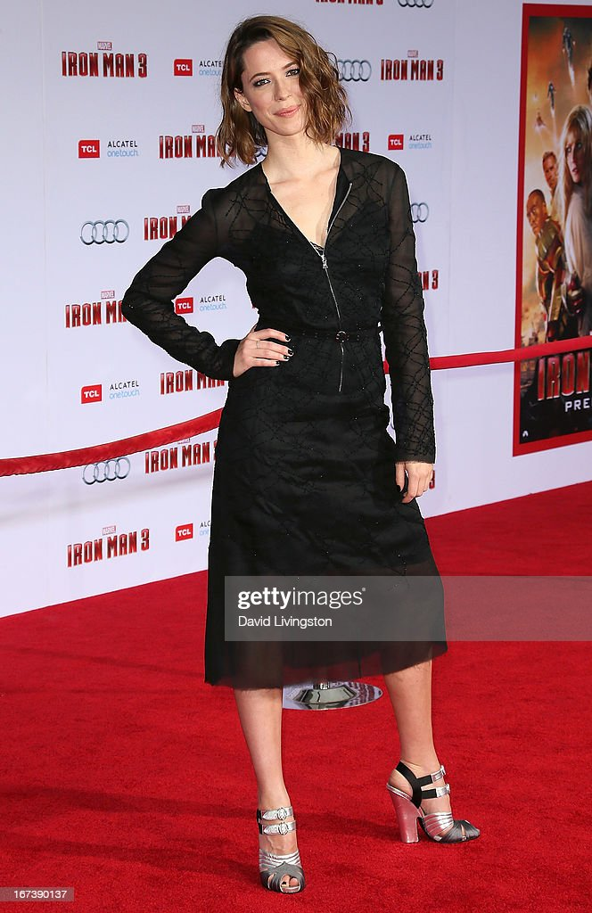 Actress Rebecca Hall attends the premiere of Walt Disney Pictures' 'Iron Man 3' at the El Capitan Theatre on April 24, 2013 in Hollywood, California.