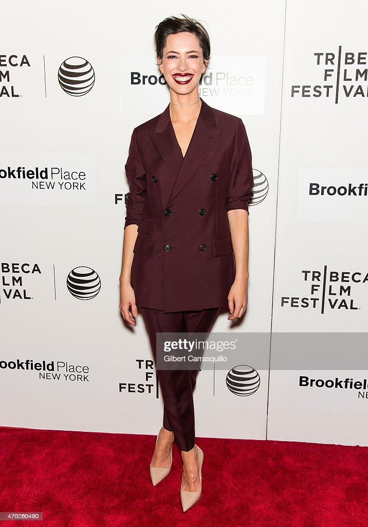 Actress Rebecca Hall attends the World Premiere Narrative 'Tumbledown' during the 2015 Tribeca Film Festival at BMCC Tribeca PAC on April 18 2015 in...