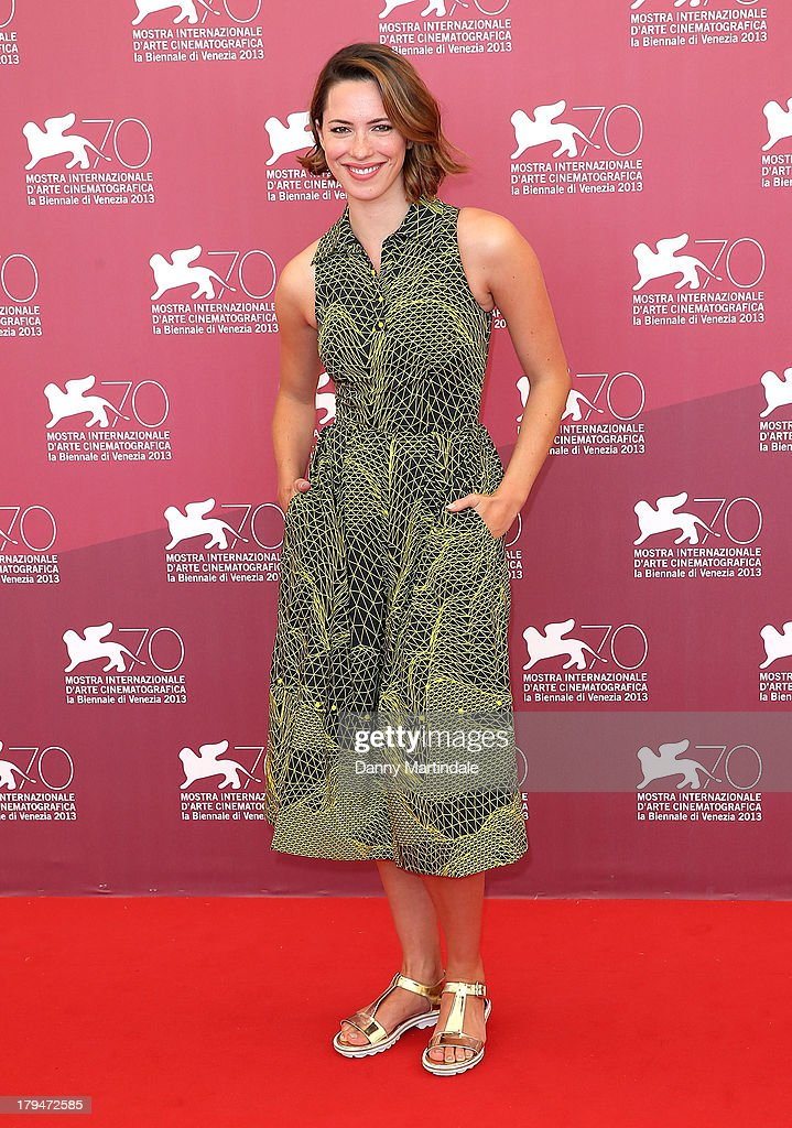Actress <a gi-track='captionPersonalityLinkClicked' href=/galleries/search?phrase=Rebecca+Hall&family=editorial&specificpeople=778176 ng-click='$event.stopPropagation()'>Rebecca Hall</a> attends 'Une Promesse' photocall during the 70th Venice International Film Festival at Palazzo del Casino on September 4, 2013 in Venice, Italy.