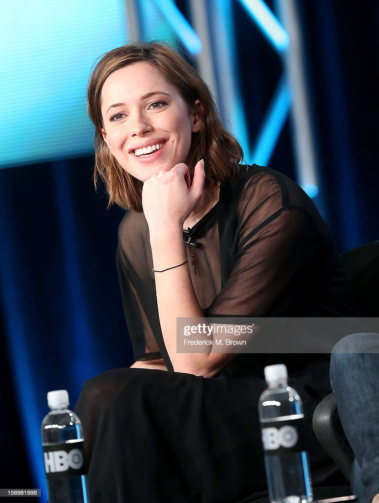 Actress Rebecca Hall speaks onstage during the 'Parade's End' panel discussion at the HBO portion of the 2013 Winter TCA Tourduring 2013 Winter TCA Tour - Day 1 at Langham Hotel on January 4, 2013 in Pasadena, California.