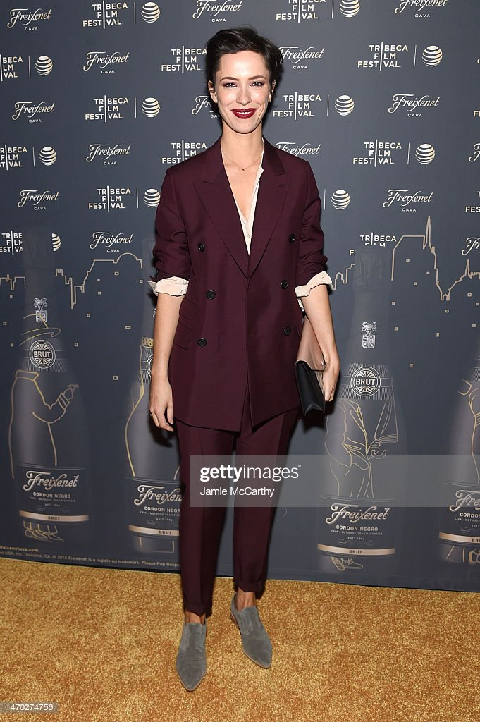 Actress Rebecca Hall wearing Prada attends the 2015 Tribeca Film Festival After Party for 'Tumbledown' sponsored by Freixenet Spanish Cava at 121...