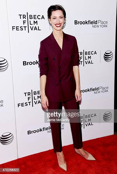 Actress Rebecca Hall wearing Prada attends the premiere of 'Tumbledown' during the 2015 Tribeca Film Festival at BMCC Tribeca PAC on April 18 2015 in...