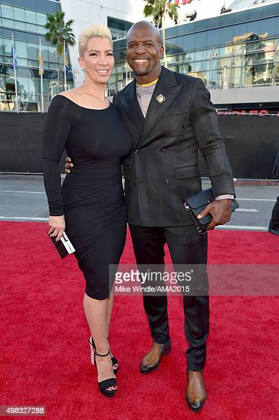 Actress Rebecca KingCrews and actor Terry Crews attend the 2015 American Music Awards at Microsoft Theater on November 22 2015 in Los Angeles...