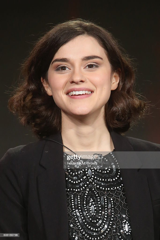 Actress Rebecca Liddiard speaks onstage during the 'Houdini & Doyle' panel discussion at the FOX portion of the 2015 Winter TCA Tour at the Langham Huntington Hotel on January 15, 2016 in Pasadena, California