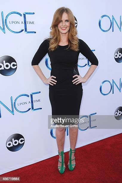 Actress Rebecca Mader arrives at ABC's 'Once Upon A Time' Season 4 Red Carpet Premiere at the El Capitan Theatre on September 21 2014 in Hollywood...