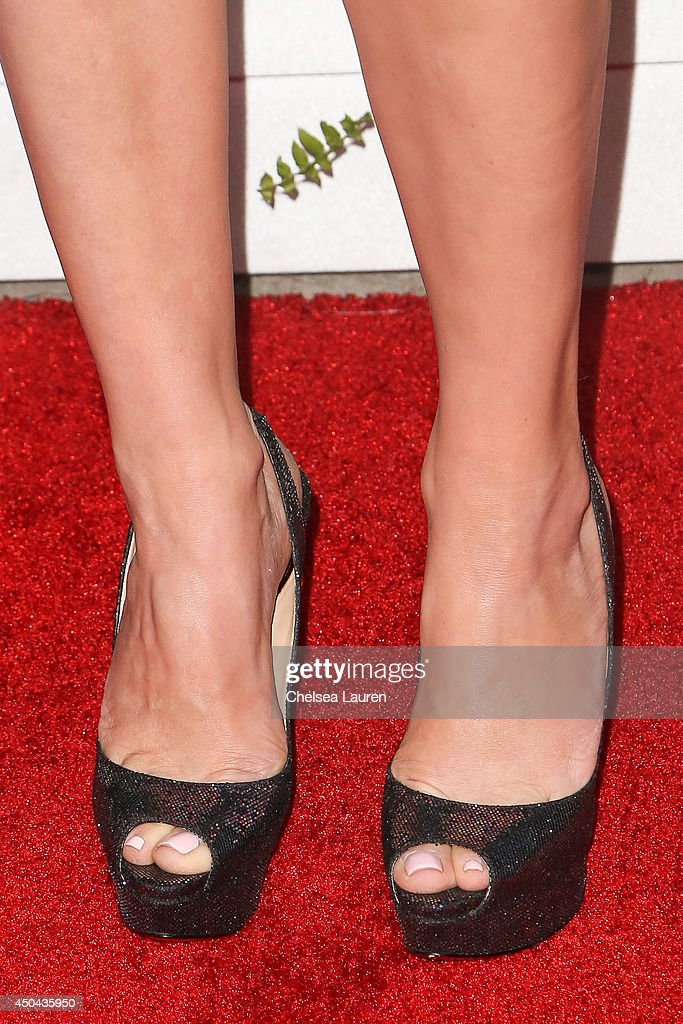 Actress Rebecca Mader (shoe detail) arrives at Maxim Hot 100 at Pacific Design Center on June 10, 2014 in West Hollywood, California.