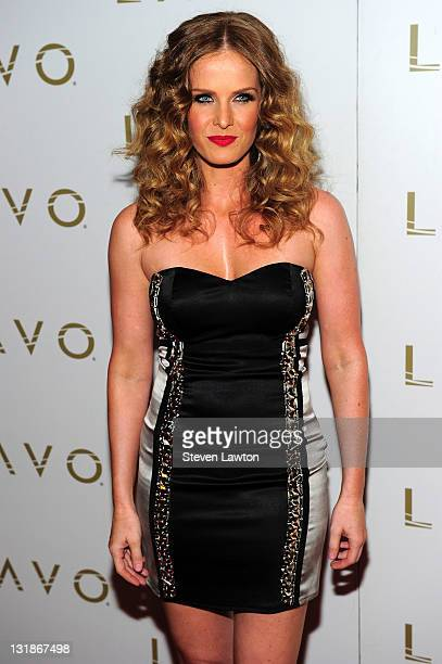 Actress Rebecca Mader arrives to celebrate her birthday at Lavo on April 22 2011 in Las Vegas Nevada