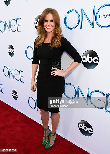 Actress Rebecca Mader attends a screening of ABC's 'Once Upon A Time' Season 4 at the El Capitan Theatre on September 21 2014 in Hollywood California