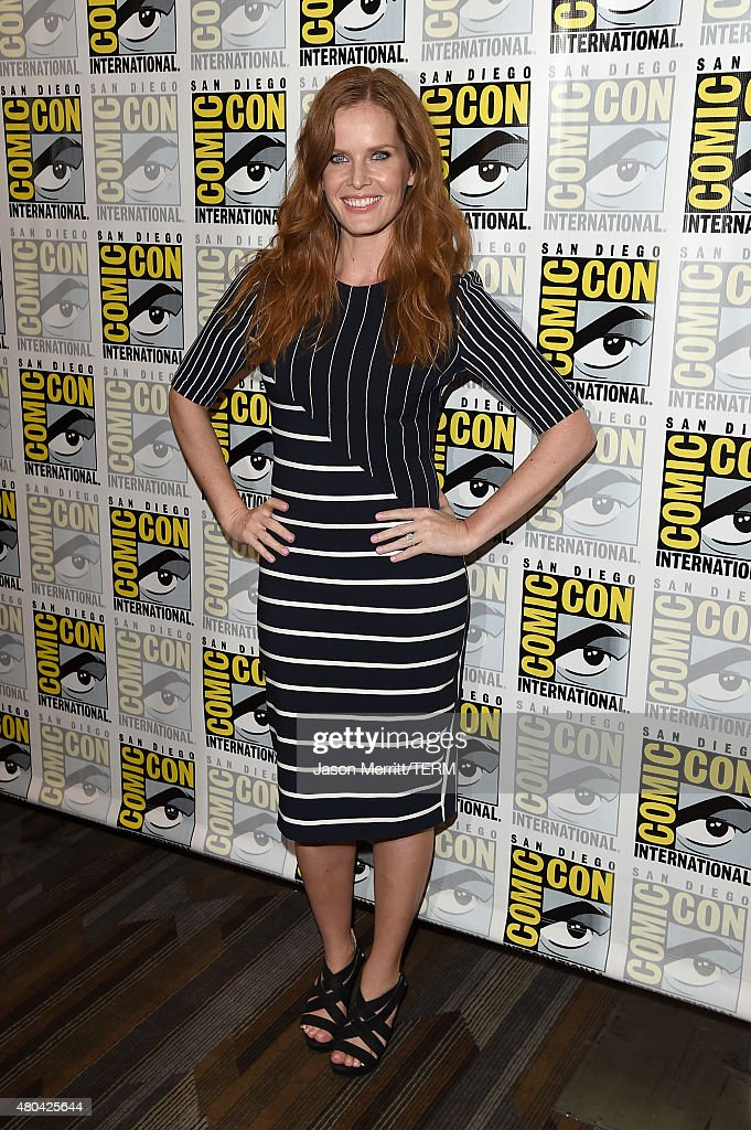Actress Rebecca Mader attends the 'Once Upon A Time' press room during Comic-Con International 2015 at the Hilton Bayfront on July 11, 2015 in San Diego, California.