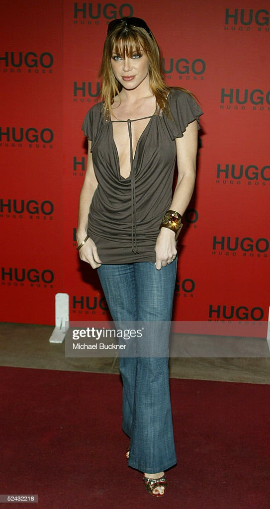 Actress Rebecca Mary arrives at the Hugo Boss Fall/Winter 2005 Collection Show at the Beverly Hills Hotel on March 15 2005 in Los Angeles California