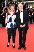 Actress Rebecca O'Brien and director Ken Loach attend the closing ceremony of the 69th annual Cannes Film Festival at the Palais des Festivals on May...
