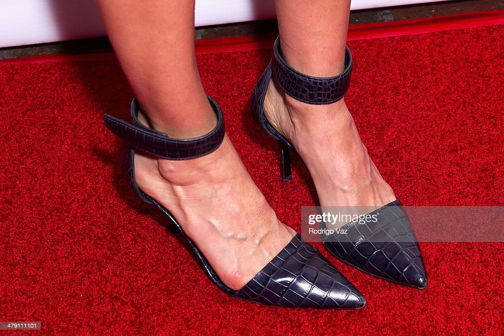 Actress Rebecca Reid (shoe detail) attends The Dream Builders Project 'A Brighter Future For Children' at H.O.M.E. on March 15, 2014 in Beverly Hills, California.