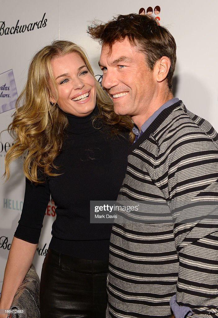 Actress Rebecca Romijn and actor Jerry O'Connell attend the premiere of Gravitas Ventures' 'Ass Backwards' at the Vista Theatre on October 30, 2013 in Los Angeles, California.