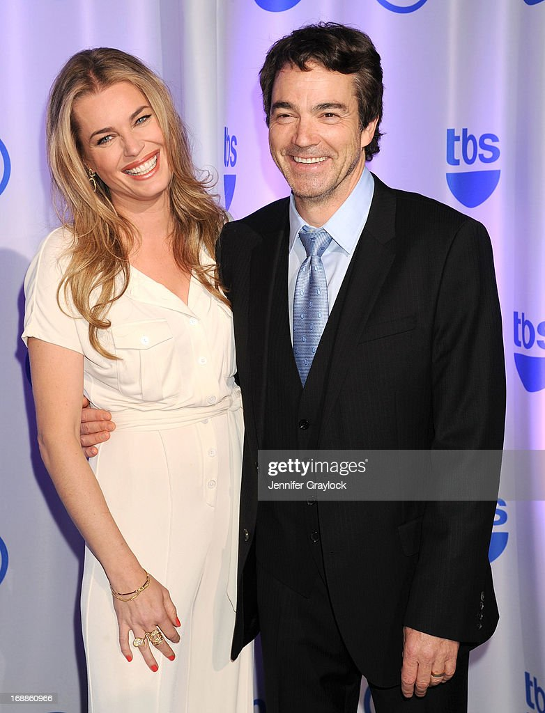 Actress Rebecca Romijn and Actor Jon Tenney attends the 2013 TNT/TBS Upfront presentation at Hammerstein Ballroom on May 15, 2013 in New York City.