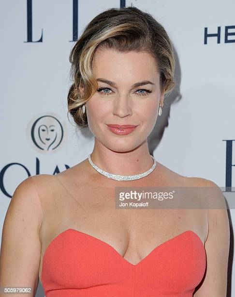 Actress Rebecca Romijn arrives at ELLE's 6th Annual Women In Television Dinner at Sunset Tower Hotel on January 20 2016 in West Hollywood California