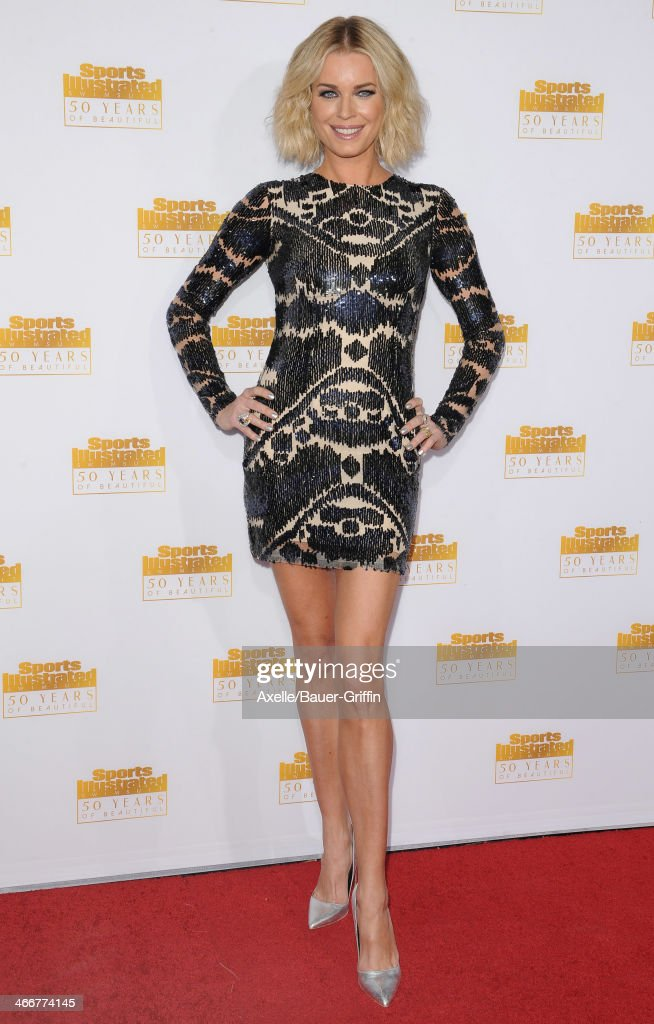 Actress <a gi-track='captionPersonalityLinkClicked' href=/galleries/search?phrase=Rebecca+Romijn&family=editorial&specificpeople=202241 ng-click='$event.stopPropagation()'>Rebecca Romijn</a> arrives at NBC And Time Inc. Celebrate 50th Anniversary Of Sports Illustrated Swimsuit Issue at Dolby Theatre on January 14, 2014 in Hollywood, California.