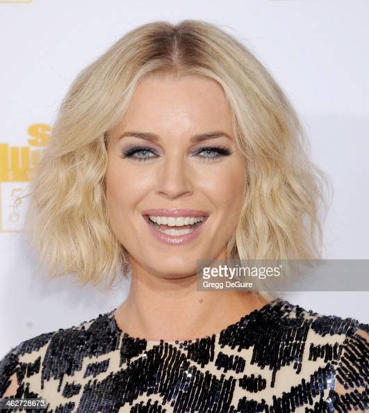Actress Rebecca Romijn arrives at the 50th Anniversary Celebration Of Sports Illustrated Swimsuit Issue at Dolby Theatre on January 14 2014 in...