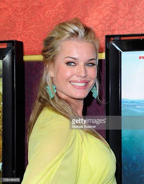 Actress Rebecca Romijn arrives at the premiere of The Weinstein Company's 'Piranha 3D' at the Mann's Chinese 6 Theatre on August 18 2010 in Hollywood...