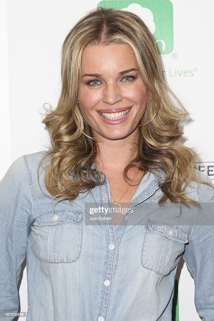 Actress <a gi-track='captionPersonalityLinkClicked' href=/galleries/search?phrase=Rebecca+Romijn&family=editorial&specificpeople=202241 ng-click='$event.stopPropagation()'>Rebecca Romijn</a> attends Blue Jeans go green celebrates 1 Million pieces of denim collected for recycling hosted by Miles Teller at SkyBar at the Mondrian Los Angeles on November 6, 2013 in West Hollywood, California.