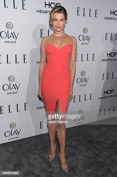Actress Rebecca Romijn attends ELLE's 6th Annual Women In Television Dinner at Sunset Tower Hotel on January 20 2016 in West Hollywood California