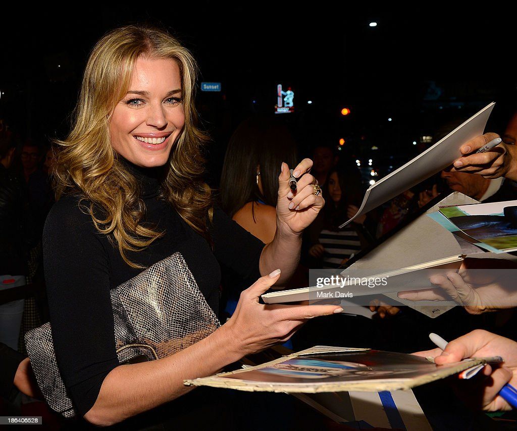 Actress Rebecca Romijn attends the premiere of Gravitas Ventures' 'Ass Backwards' at the Vista Theatre on October 30, 2013 in Los Angeles, California.