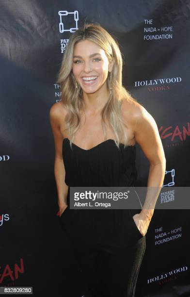 "Actress Rebekah Graf arrives for the Premiere Of Parade Deck's ""Lycan"" held at Laemmle's Ahrya Fine Arts Theatre on August 15 2017 in Beverly Hills..."