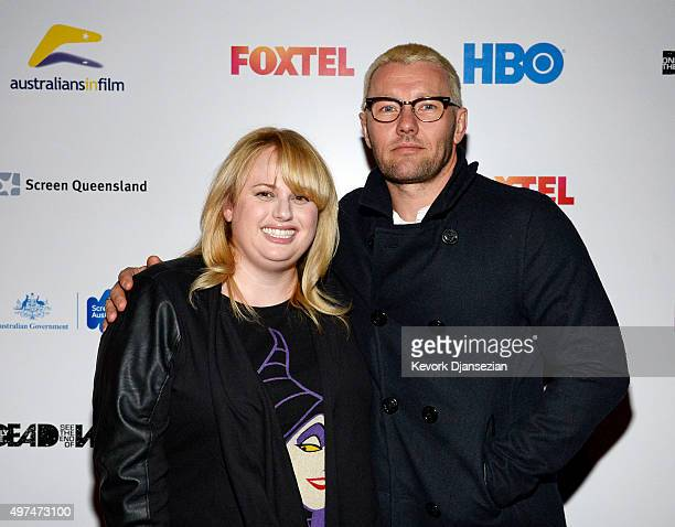 Actress Rebel Wilson actor Joel Edgerton attend screening of the FoxTel and HBO's war documentary 'Only The Dead See The End of War' November 16 2015...