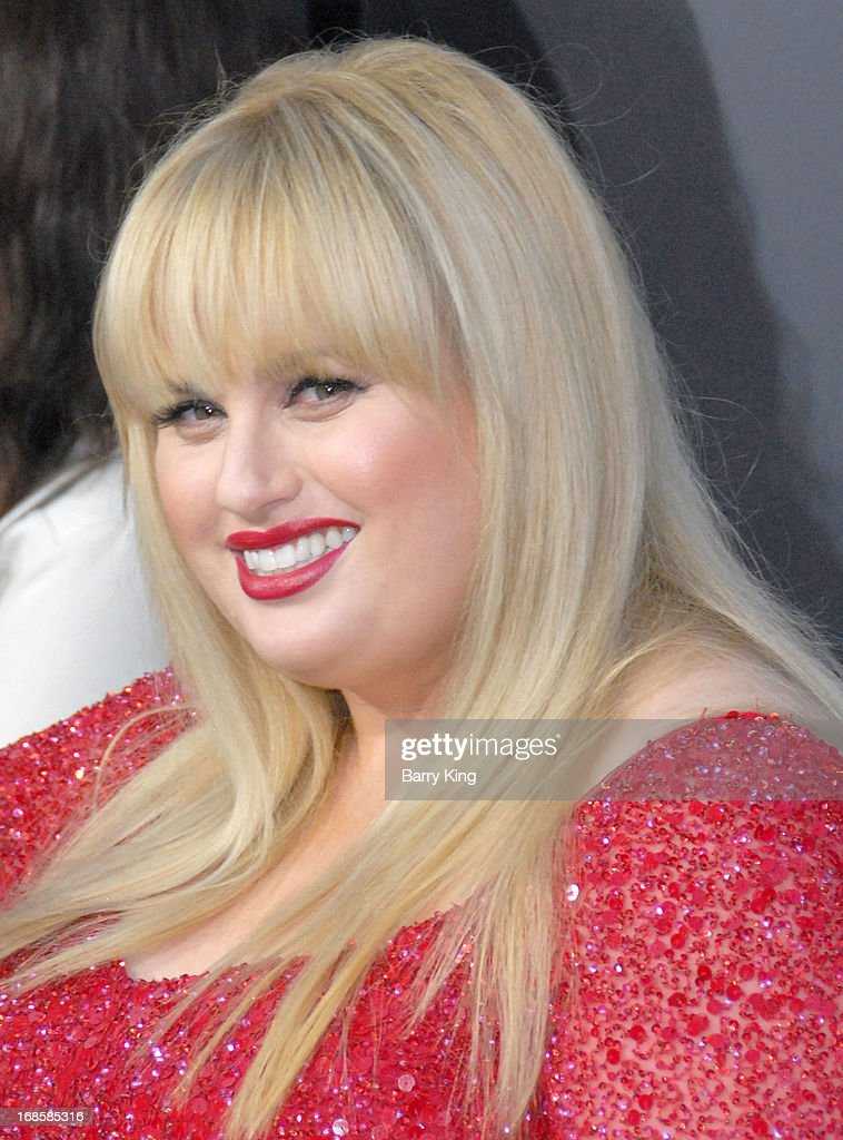 Actress Rebel Wilson arrives at the Los Angeles Premiere 'Pain & Gain' at TCL Chinese Theatre on April 22, 2013 in Hollywood, California.