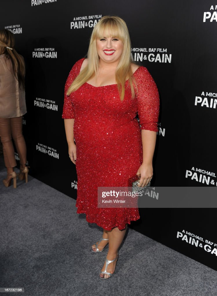 Actress Rebel Wilson arrives at the premiere of Paramount Pictures' 'Pain & Gain' at TCL Chinese Theatre on April 22, 2013 in Hollywood, California.