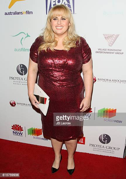 Actress Rebel Wilson attends Australians in Film's 5th annual awards gala on October 18 2016 in Hollywood California