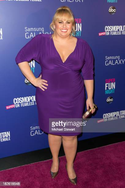 Actress Rebel Wilson attends Cosmopolitan's 'Super Fun Night' With Rebel Wilson And Joanna Coles at Hearst Tower on October 1 2013 in New York City