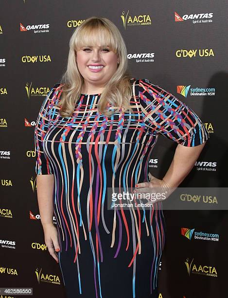 Actress Rebel Wilson attends the 2015 G'Day USA Gala featuring the AACTA International Awards presented by Qantas at Hollywood Palladium on January...