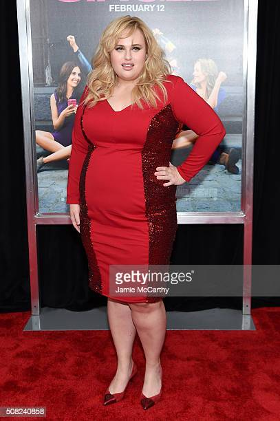Actress Rebel Wilson attends the New York premiere of 'How To Be Single' at the NYU Skirball Center on February 3 2016 in New York City