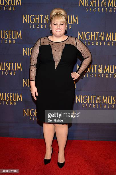Actress Rebel Wilson attends the 'Night At The Museum Secret Of The Tomb' New York Premiere at Ziegfeld Theater on December 11 2014 in New York City