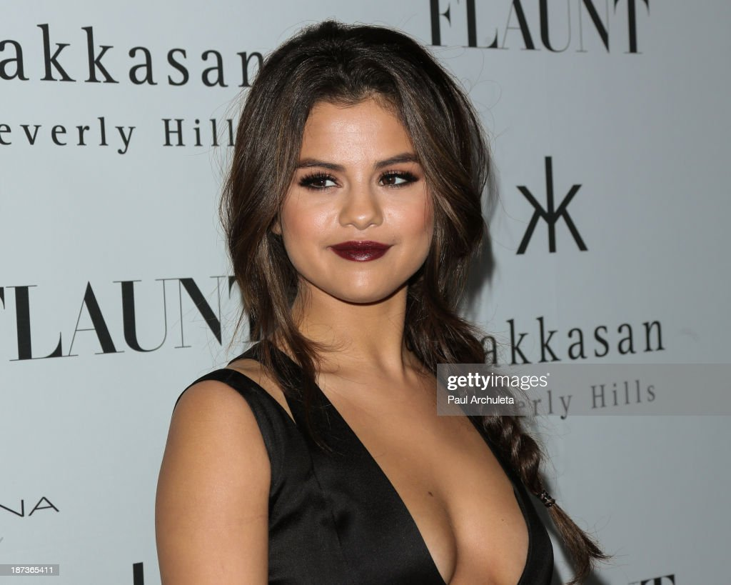 Actress / Recording Artist Selena Gomez attends Flaunt magazine En Garde issue launch party on November 7 2013 in Beverly Hills California