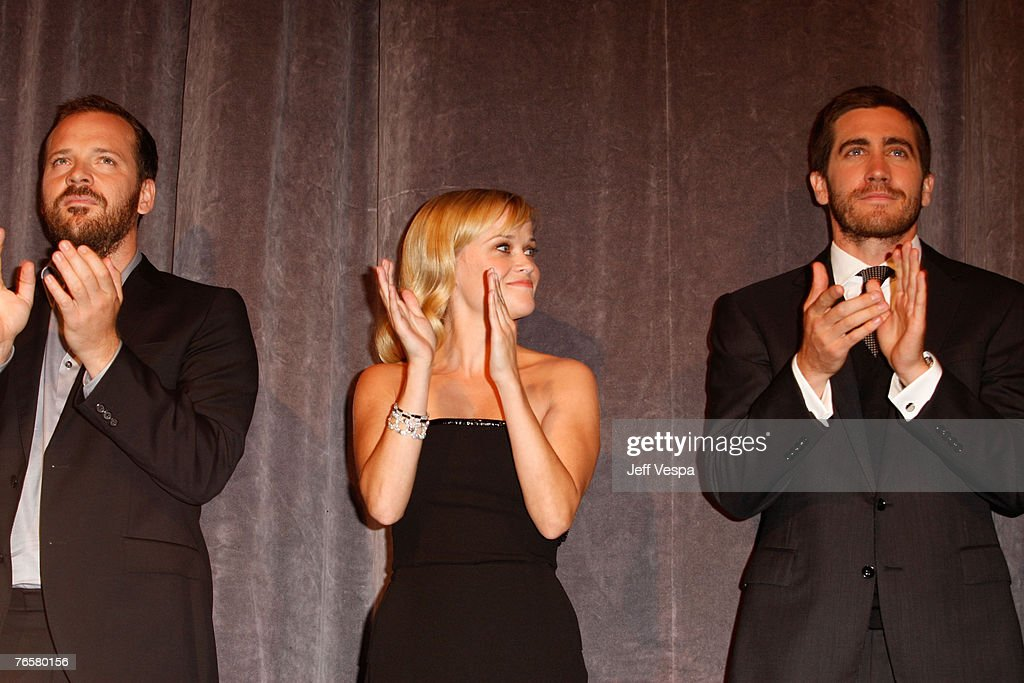 Actress Reese Witherspoon and Actor Jake Gyllenhaal arrive to the 32nd Annual Toronto International Film Festival 'Rendition' Premiere at Roy...