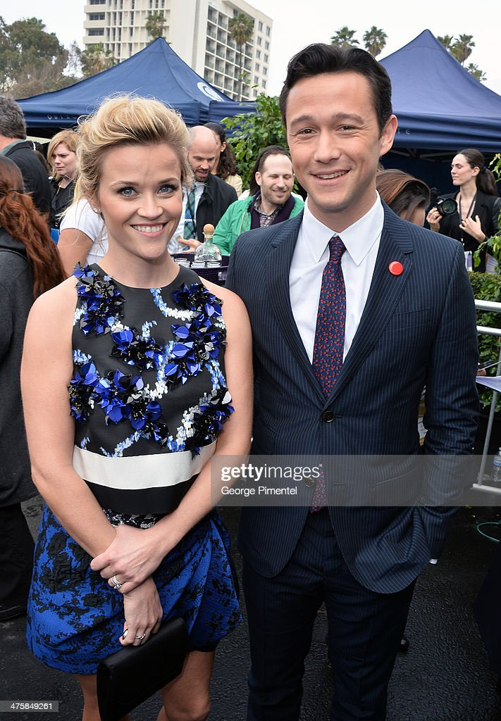 Actress Reese Witherspoon and actor Joseph Gordon-Levitt attend the 2014 Film Independent Spirit Awards at Santa Monica Beach on March 1, 2014 in Santa Monica, California.