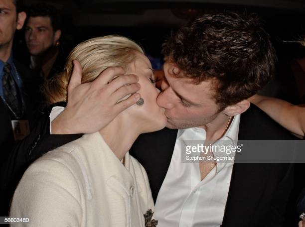 Actress Reese Witherspoon and actor Ryan Phillippe attend the Universal/NBC/Focus Features Golden Globe after party held at the Beverly Hilton on...
