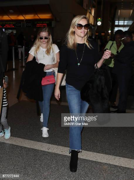 Actress Reese Witherspoon and Ava Elizabeth Phillippe seen on November 21 2017 in Los Angeles CA