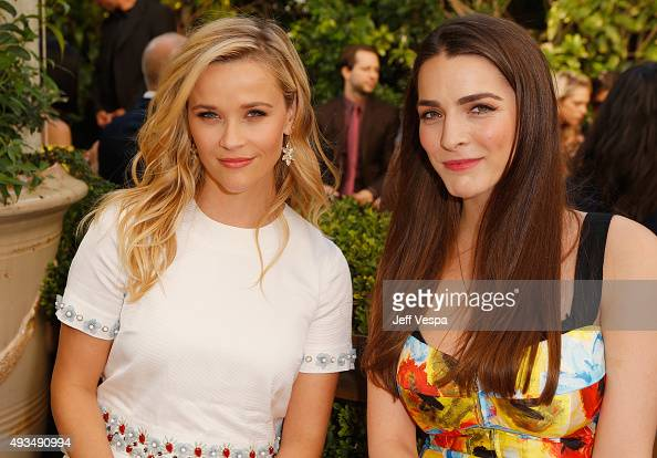 Actress Reese Witherspoon and Bee Shaffer attend CFDA/Vogue Fashion Fund Show and Tea at Chateau Marmont on October 20 2015 in Los Angeles California