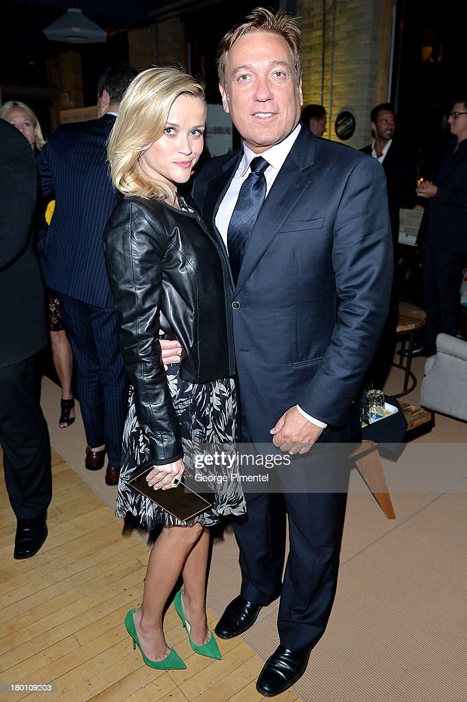 Actress Reese Witherspoon (L) and CAA agent Kevin Huvane attend the SodaStream presents The Worldview Party at Live at the Hive during the 2013 Toronto International Film Festival on September 8, 2013 in Toronto, Canada.