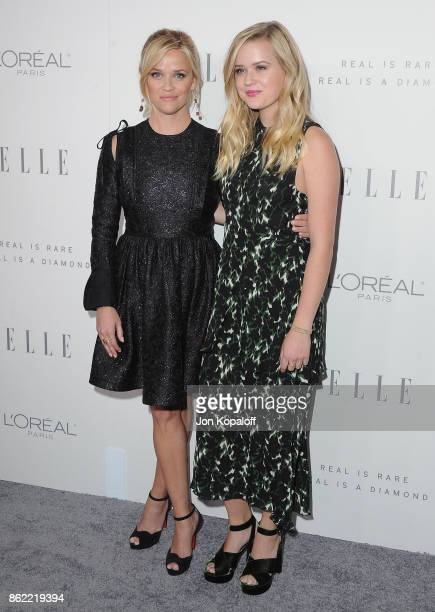 Actress Reese Witherspoon and daughter Ava Phillippe arrive at ELLE's 24th Annual Women in Hollywood Celebration at Four Seasons Hotel Los Angeles at...