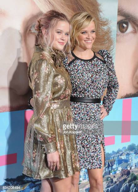 Actress Reese Witherspoon and daughter Ava Phillippe arrive at the Los Angeles premiere 'Big Little Lies' at TCL Chinese Theatre on February 7 2017...