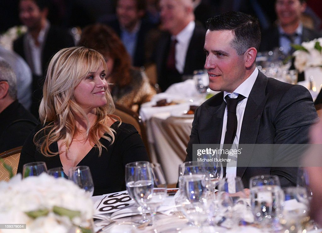 Actress Reese Witherspoon and Head of Motion Picture Talent at Creative Artists Agency (CAA), Jim Toth attend the 2nd Annual Sean Penn and Friends Help Haiti Home Gala benefiting J/P HRO presented by Giorgio Armani at Montage Hotel on January 12, 2013 in Los Angeles, California.