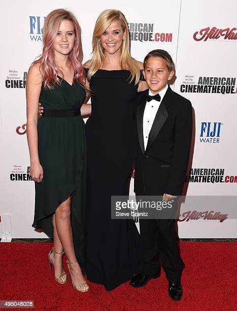 Actress Reese Witherspoon and kids Ava Phillippe and Deacon Reese Phillippe arrives at the 29th American Cinematheque Award Honoring Reese...