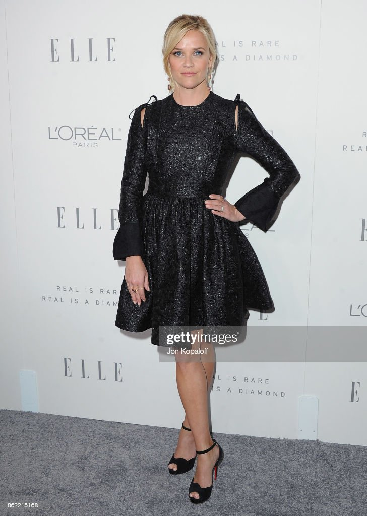Actress Reese Witherspoon arrives at ELLE's 24th Annual Women in Hollywood Celebration at Four Seasons Hotel Los Angeles at Beverly Hills on October 16, 2017 in Los Angeles, California.