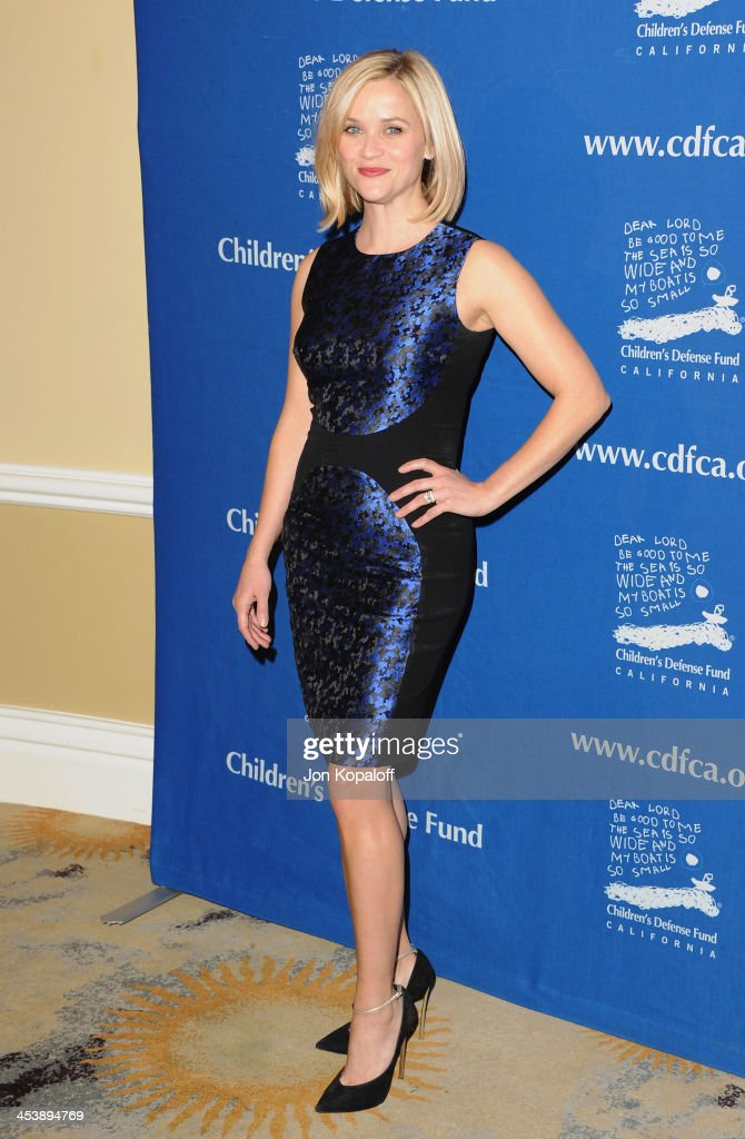 Actress <a gi-track='captionPersonalityLinkClicked' href=/galleries/search?phrase=Reese+Witherspoon&family=editorial&specificpeople=201577 ng-click='$event.stopPropagation()'>Reese Witherspoon</a> arrives at the Children's Defense Fund 23rd Annual Beat The Odds Awards at Beverly Hills Hotel on December 5, 2013 in Beverly Hills, California.