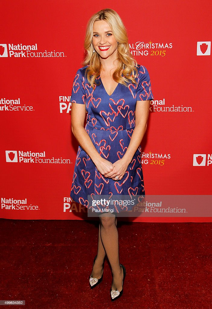 Actress Reese Witherspoon arrives to host the 93rd Annual National Christmas Tree Lighting at The Ellipse on December 3, 2015 in Washington, DC.