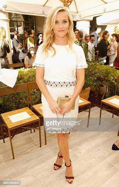 Actress Reese Witherspoon attends CFDA/Vogue Fashion Fund Show and Tea at Chateau Marmont on October 20 2015 in Los Angeles California